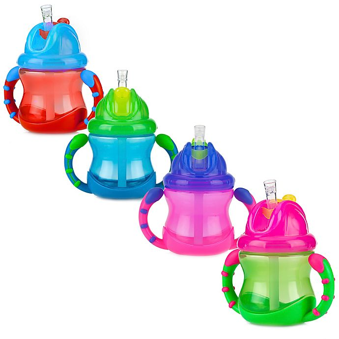 Alternate image 1 for Nuby™ 2-Handle Flip-n'-Sip™ Straw Cup