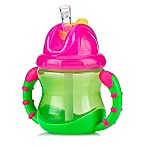 Nuby™ 2-Handle Flip-n'-Sip™ Straw Cup in Pink/Green