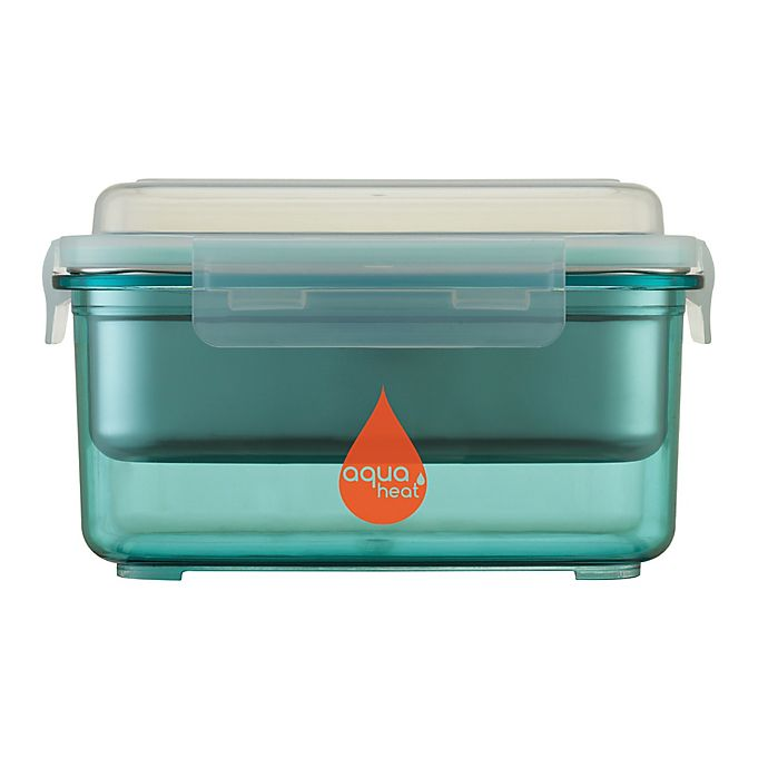 Alternate image 1 for Aquaheat™ by Innobaby 28 oz. Portable Food Warmer Container Mega Set in Aqua