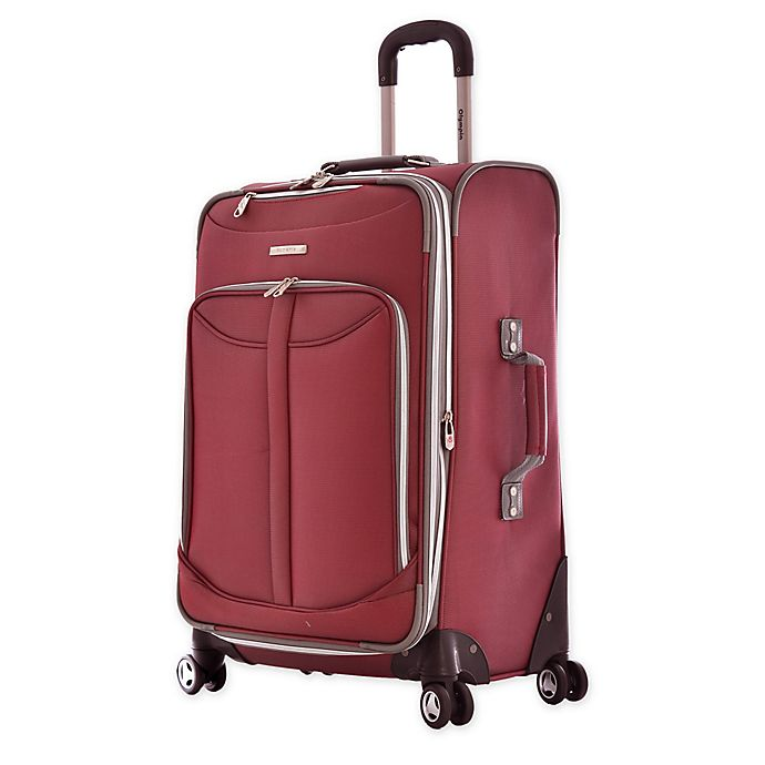 Alternate image 1 for Olympia® 25-Inch Tuscany Spinner Checked Luggage in Red