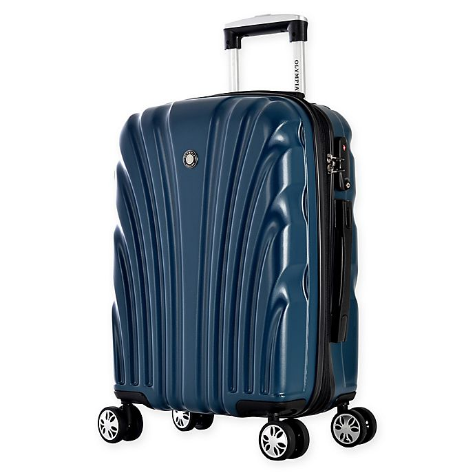 Alternate image 1 for Olympia® USA Vortex 24-Inch Hardside Spinner Checked Luggage in Dark Green