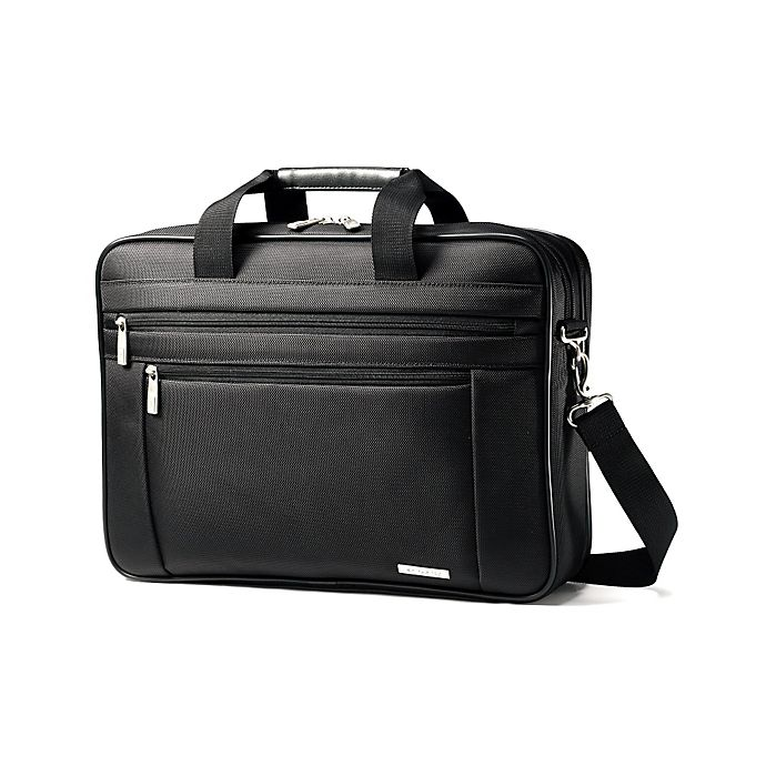 2 Gusset Briefcase In Black View A Larger Version Of This Product Image