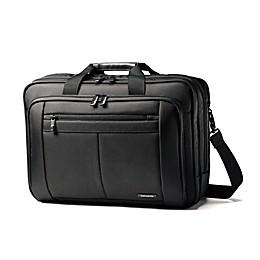 Samsonite® Toploader 3-Gusset Briefcase in Black