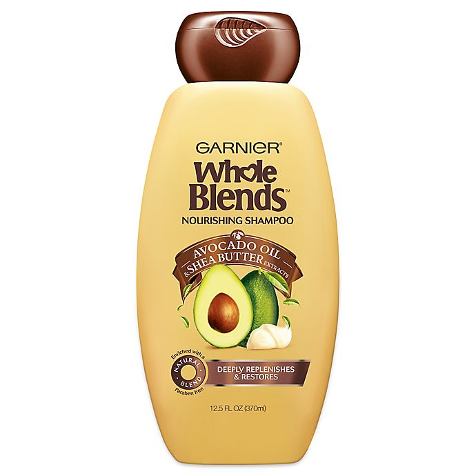 Alternate image 1 for Garnier® Whole Blends™ Avocado Oil & Shea Butter 12.5 oz. Nourishing Shampoo
