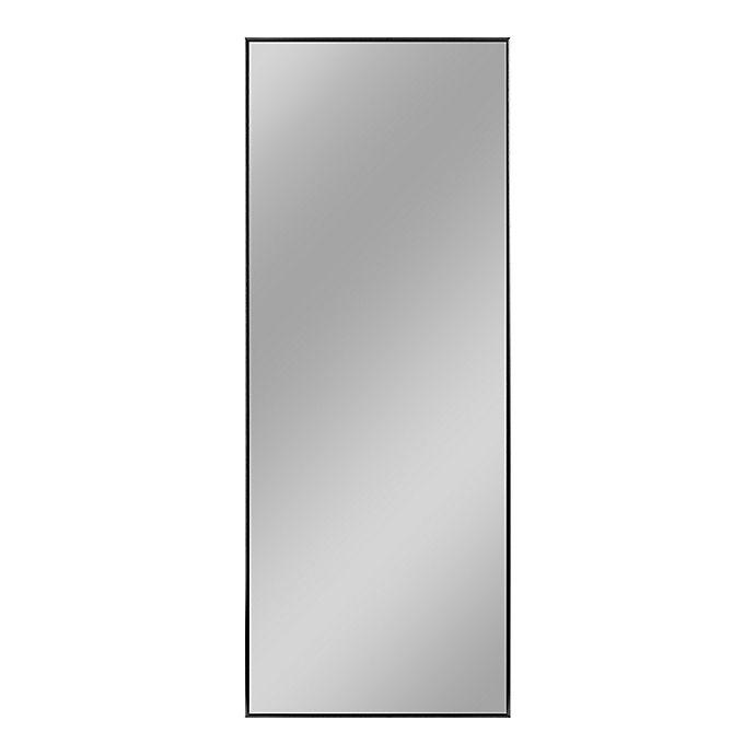 Alternate image 1 for Neutype Aluminum Alloy 70.9-Inch x 23.7-Inch Full-Length Floor Mirror in Black