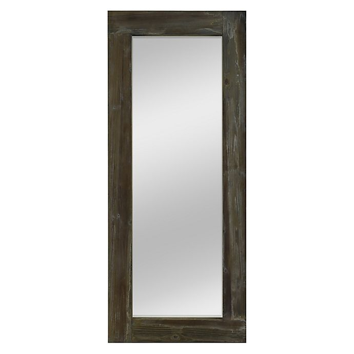Alternate image 1 for Rustic Wood Freestanding Floor Mirror in Green