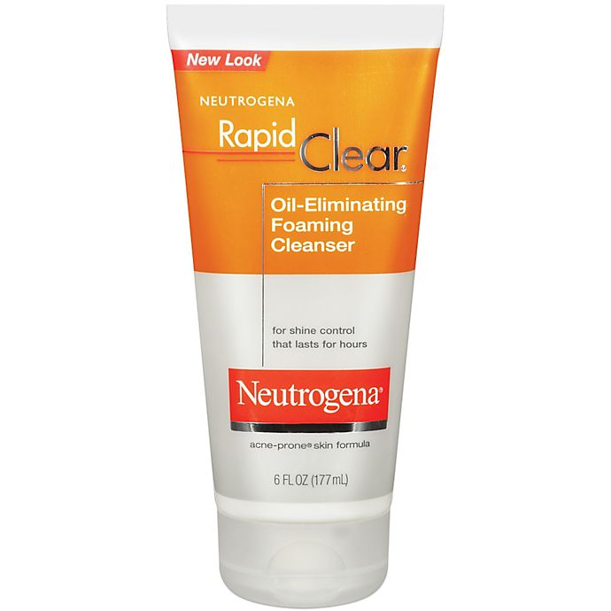 Alternate image 1 for Neutrogena® Rapid Clear® 6 oz. Oil-Eliminating Foaming Cleanser