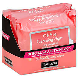 Neutrogena® Twin Pack 25-Count Oil-Free Cleansing Wipes in Pink Grapefruit