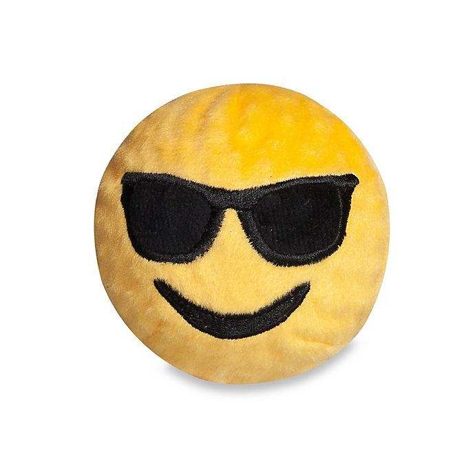Alternate image 1 for fabdog® Fabmoji Sunglasses Emoji Faball Dog Toy