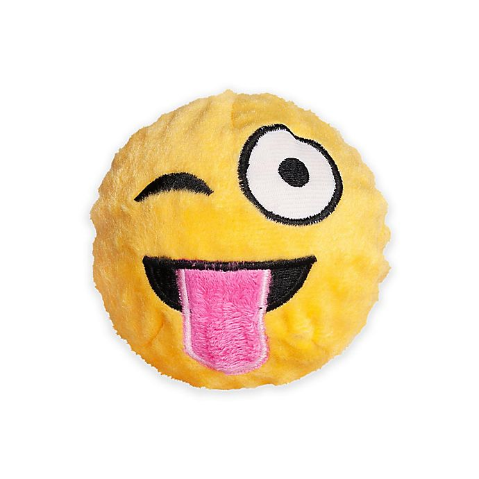 fabdog® Fabmoji Wink Emoji Faball Dog Toy | Bed Bath and