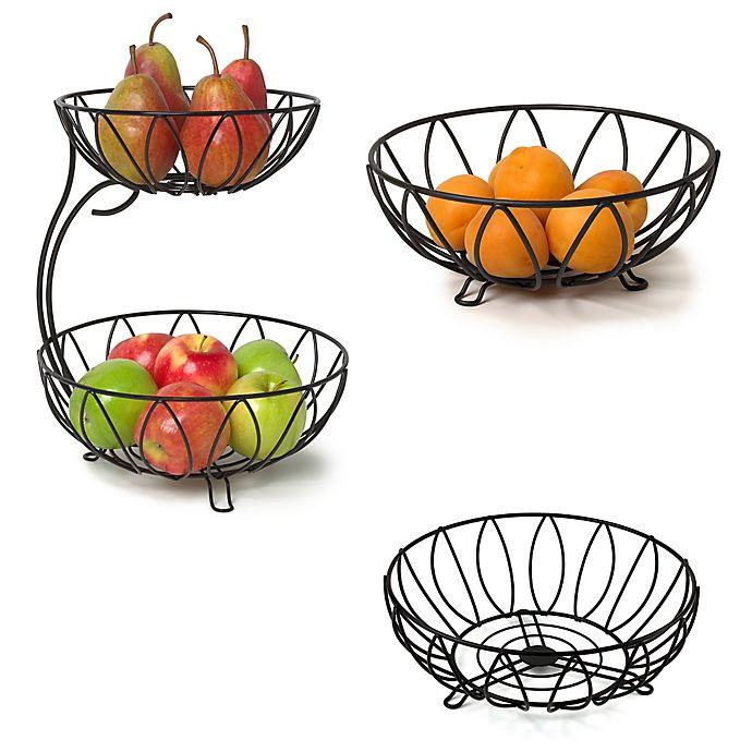 Alternate image 1 for Spectrum™ Leaf Kitchen Collection in Black