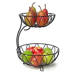 Spectrum™ Leaf 2-Tier Fruit Server