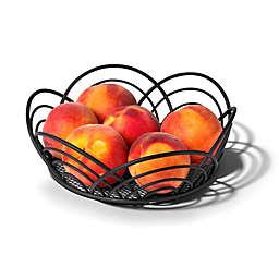 Spectrum™ Flower Fruit Bowl in Black