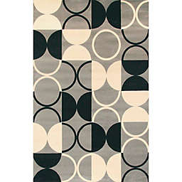 Terra Paloma 5' x 8' Area Rug in Black/Grey