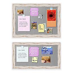 Alexandria Whitewash Framed Magnetic Board