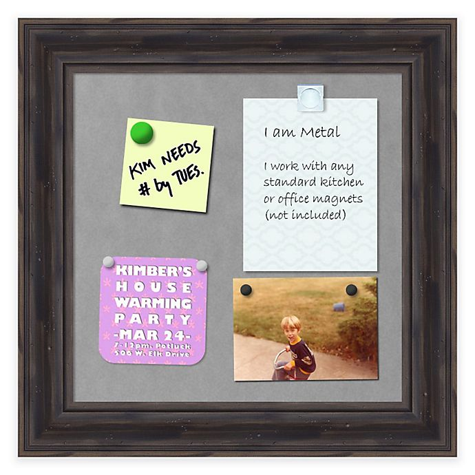 Alternate image 1 for Rustic Pine Framed 12-Inch x 12-Inch Magnetic Board