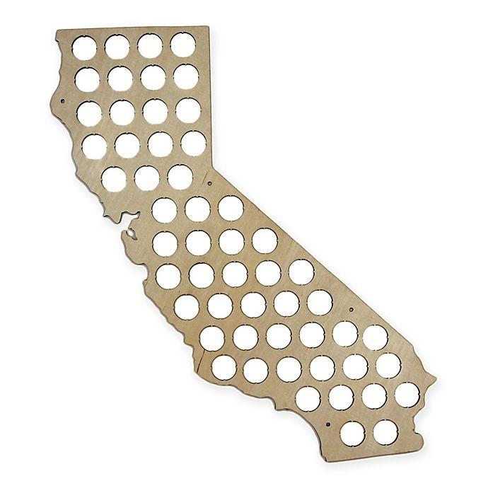 Alternate image 1 for Beer Cap California Map Wall Art