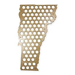 Beer Cap Map of Vermont