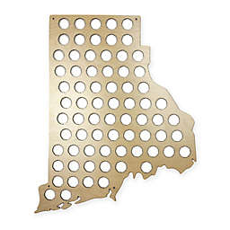 Beer Cap Map of Rhode Island