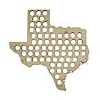Beer Cap Map of Texas