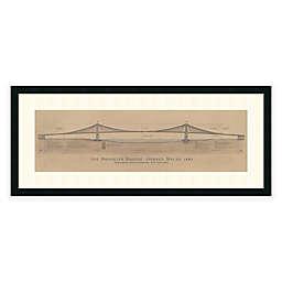 Craig S. Holmes Brooklyn Bridge Framed Architectural Art Print