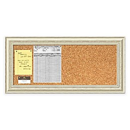 Country Whitewash Cork Board and Panel Message Board