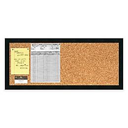 Mezzanotte Cork Board and Panel Message Board in Black