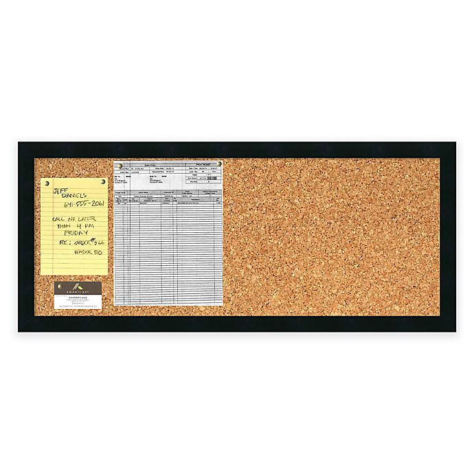Alternate image 1 for Mezzanotte Cork Board and Panel Message Board in Black