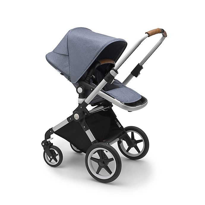 Alternate image 1 for Bugaboo Lynx Compact Stroller with Aluminum Frame and Blue Seat