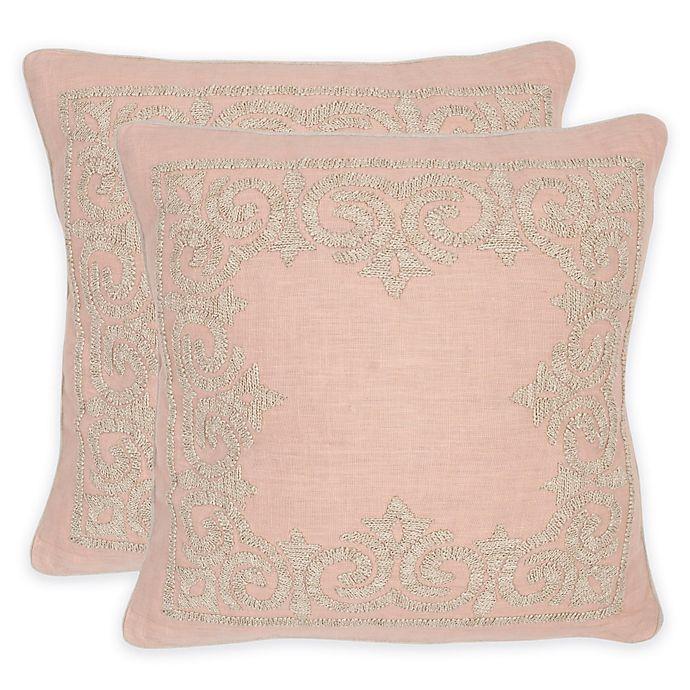 Alternate image 1 for Safavieh Florentine Square Throw Pillow in Petals (Set of 2)