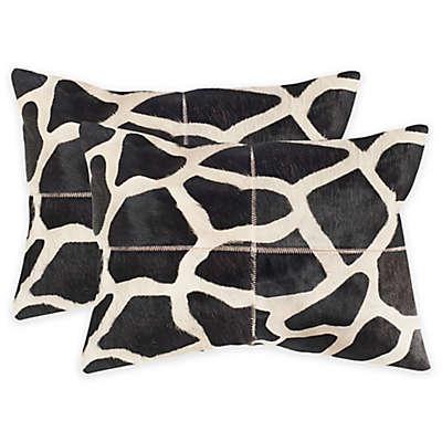 Safavieh Antonio Throw Pillow in Black/White (Set of 2)