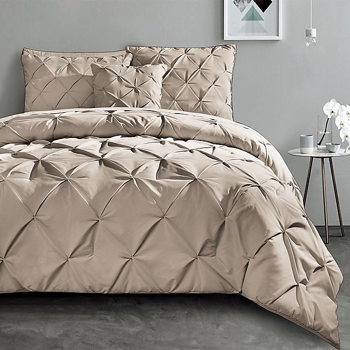 Alternate image 1 for VCNY Carmen Queen Comforter Set in Taupe