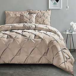 VCNY Home Carmen 3-Piece Queen Duvet Cover Set in Taupe