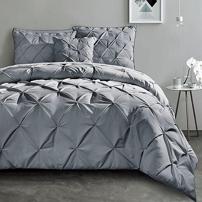 Alternate image 1 for VCNY Home Carmen 3-Piece King Duvet Cover Set in Grey