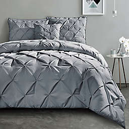 VCNY Home Carmen 3-Piece Queen Duvet Cover Set in Grey