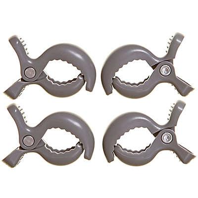 Dreambaby® Strollerbuddy® Stroller Blanket Clips in Grey (Set of 4)