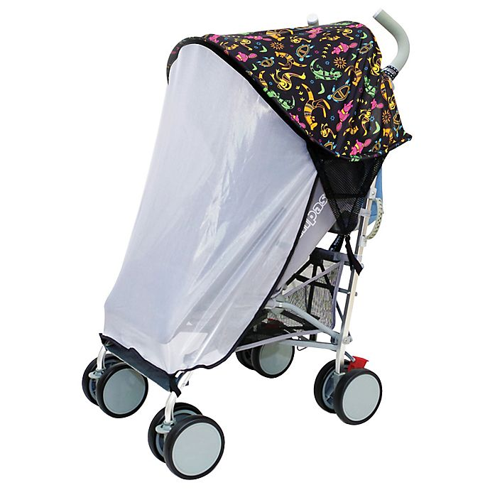 Alternate image 1 for Dreambaby® Strollerbuddy™ Extenda-Shade™ Stroller Sun Canopy with Insect Netting