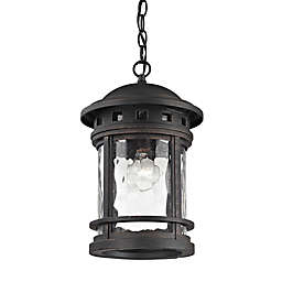 Costa Mesa Outdoor Ceiling Mount Pendant in Charcoal