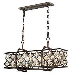 Elk Lighting Armand 6-Light Pendant Ceiling Fixture in Weathered Bronze