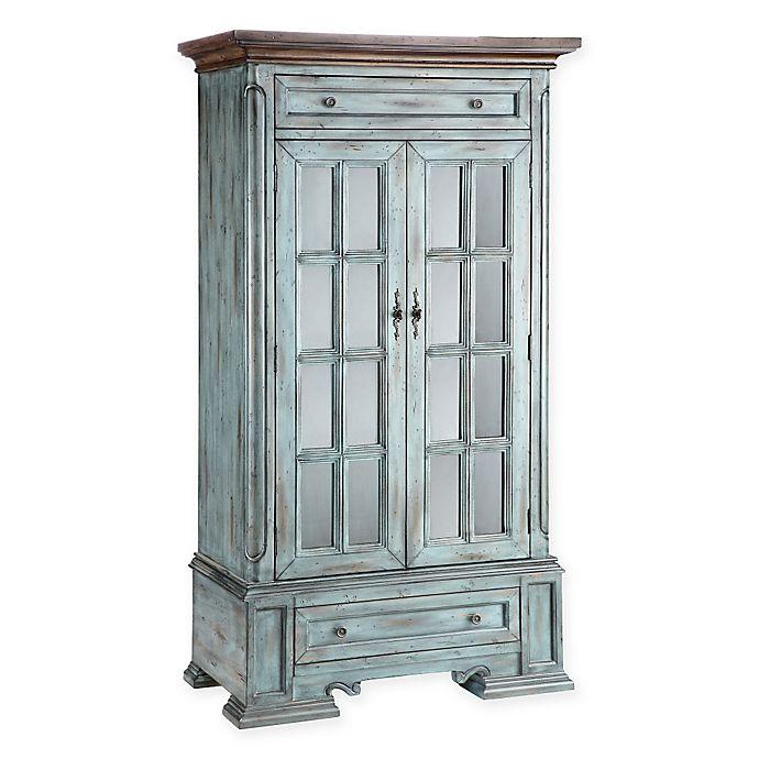 Stein World Hartford Antique Accent Cabinet In Blue