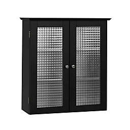 Elegant Home Fashions Maggie Wall Cabinet with 2 Glass Doors in Espresso