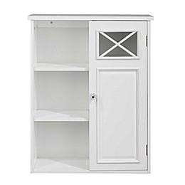 Elegant Home Fashions Allison 1-Door Wall Cabinet in White