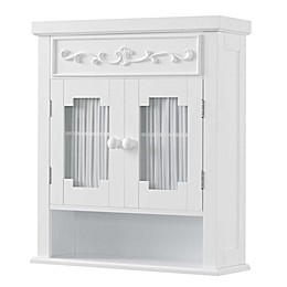 Elegant Home Fashions Wall Cabinet in White