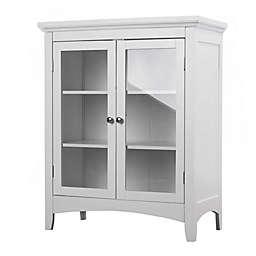 Elegant Home Fashions Helen Double Door Floor Cabinet in White