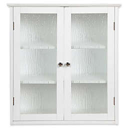 Elegant Home Fashions Olivia 2-Door Wall Cabinet in White