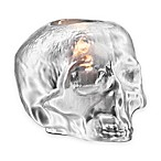Kosta Boda Still Life Skull Votive Holder in Silver