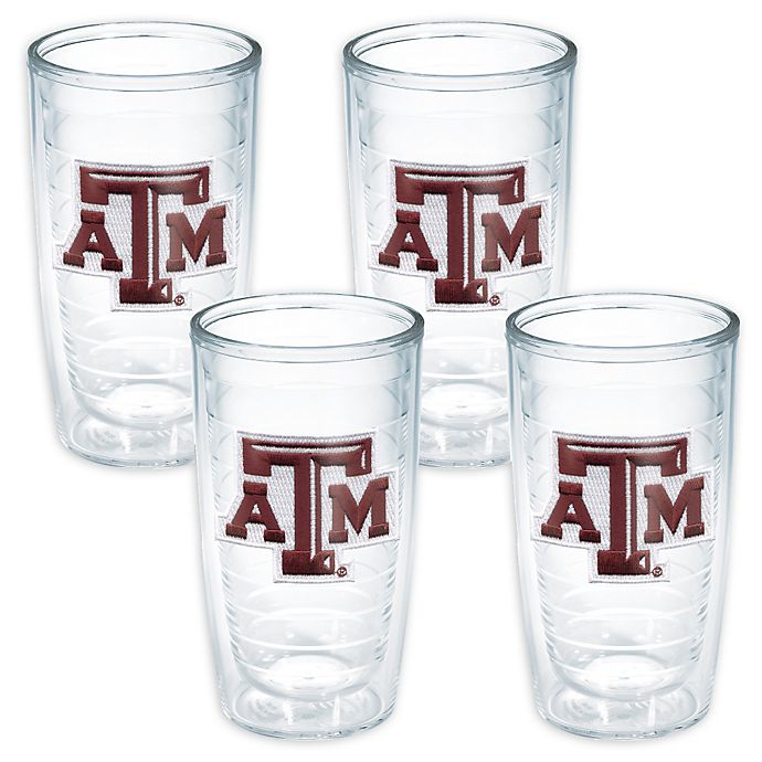Alternate image 1 for Tervis® Texas A & M University Aggies 16-Ounce Tumblers (Set of 4)