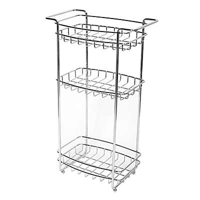 Zenna Home® 3-Shelf Floor Stand in Chrome
