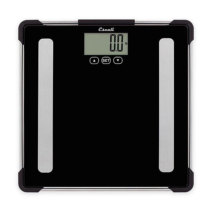 Alternate image 1 for Glass Digital Body Analyzing Bath Scale in Black