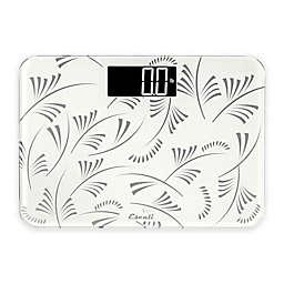 Escali Small Space Digital Bathroom Scale in White